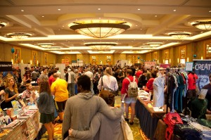 Small Press Expo floor in 2013