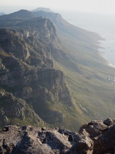 On Table Mountain looking south, Atlantic coast.