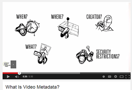 "Screenshot from ""What is Metadata"" video by WITNESS."