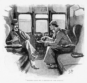 Sherlock Holmes and Doctor Watson. Published in The Adventure of Silver Blaze, which appeared in The Strand Magazine