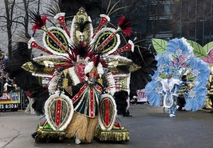Mummers Parade on New Year's day, Philadelphia, Pennsylvania. Photo by Carol M. Highsmith, Jan 1, 2011. Carol M. Highsmith Archive, Library of Congress Prints and Photographs Division.
