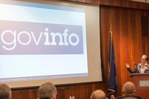 Photo of U.S. Government Publishing Office Director Davita Vance Cooks giving presentation