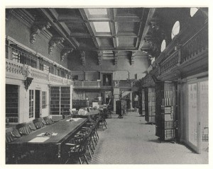 The State Library in 1890. Courtesy of the State Library of Massachusetts Special Collections.
