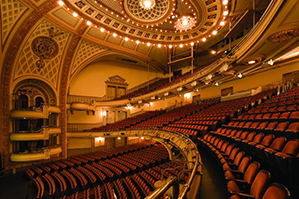Interior view of auditorium in the Howard Gilman Opera House at BAM, 2010. Photograph by Elliot Kaufman