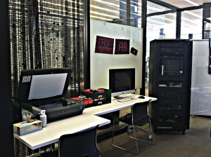 Photo of computers in the memory lab.