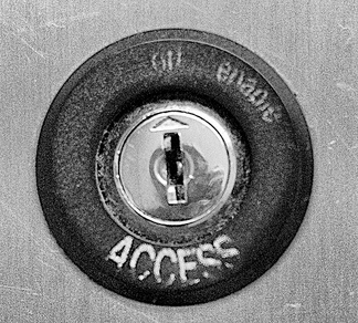 "Photo of a lock with the word ""Access"" on it."