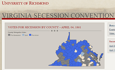 Screenshot of the Virginia Secession Convention