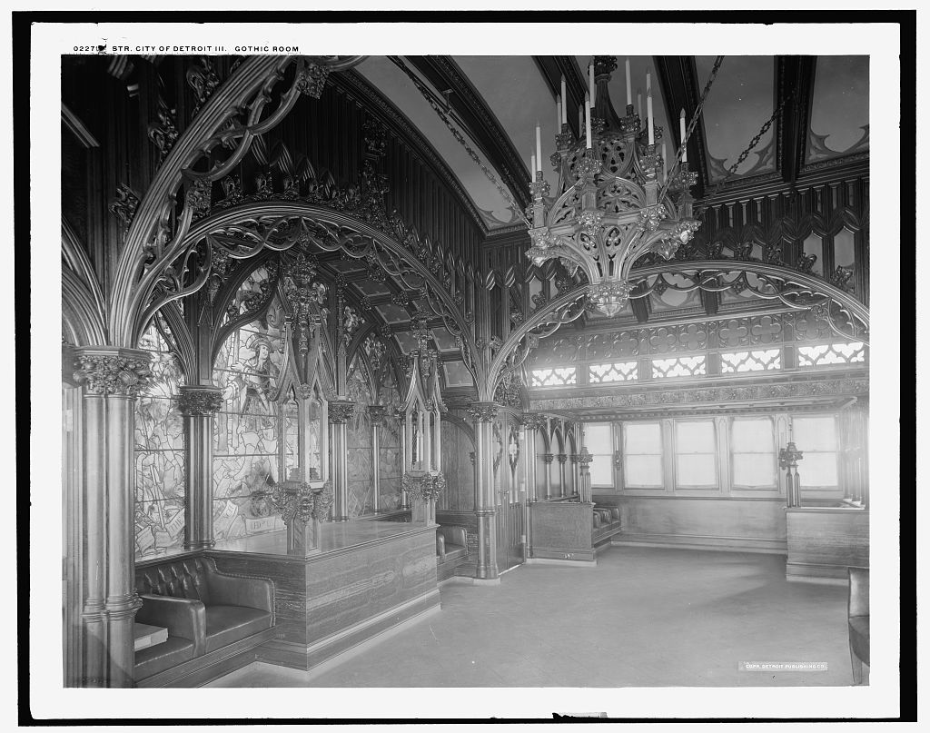Photographic of a gothic room
