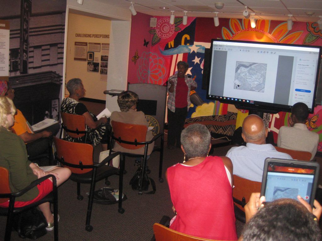 Presenter and audience in Anacostia Community Museum Resource Annex