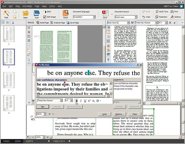 ABBYY FineReader, an OCR software.