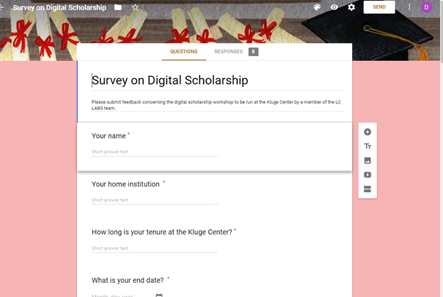 screenshot of a survey form