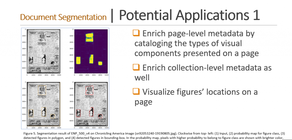 Screenshot of slide describing potential applications of these research results.