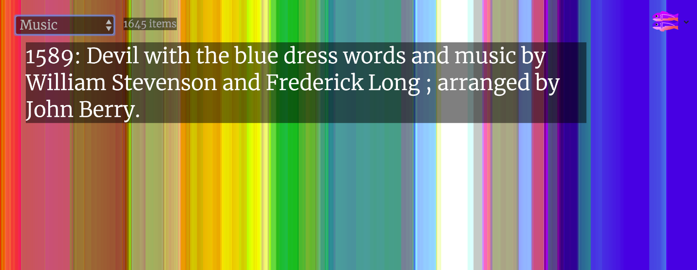 Image from A Library of Colors app by Library of Congress Innovator in Residence Jer Thorp
