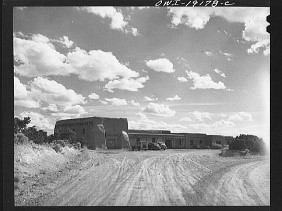 Photograph of Santa Fe, New Mexico, Laboratory of Anthropology, 1943